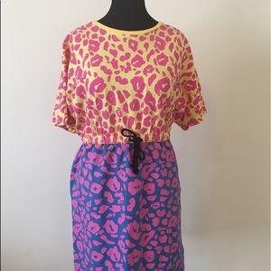 ASOS Curve Bright Animal Print Dress  | Sz. US 16